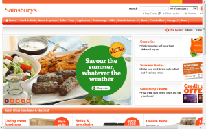 Preview 2 of the Sainsburys Groceries website