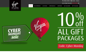 Preview 3 of the Virgin Balloon Flights website