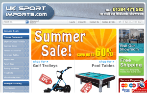 Preview 3 of the UK Sport Imports website