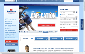 Preview 3 of the Stena Line UK website