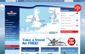 Preview 2 of the Stena Line UK website