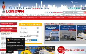 Preview 3 of the Discount London website