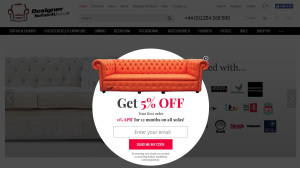 Preview 2 of the Designer Sofas 4u website