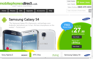 Preview 3 of the Mobile Phones Direct website
