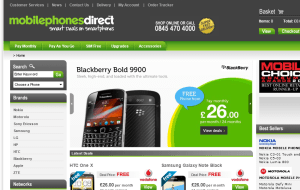Preview 2 of the Mobile Phones Direct website