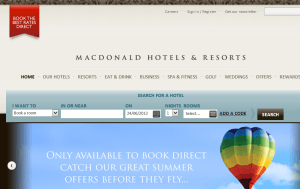 Preview 3 of the Macdonald Resorts website