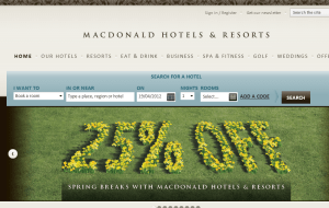 Preview 2 of the Macdonald Resorts website