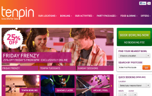 Preview 2 of the Tenpin Bowling website