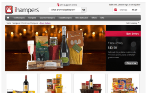 Preview 4 of the iHampers website