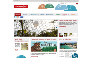 Preview 4 of the Eden Project Shop website