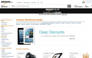 Preview 3 of the Amazon Warehouse website