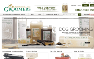 Preview 2 of the Groomers Online website