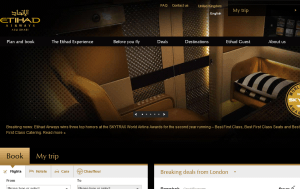 Preview 3 of the Etihad Airways website