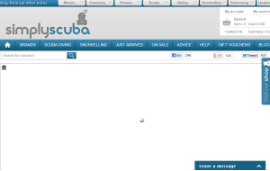 Preview 3 of the Simply Scuba website