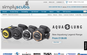 Preview 2 of the Simply Scuba website
