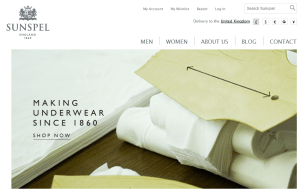 Preview 2 of the Sunspel Menswear website