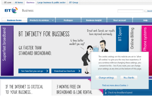 Preview 3 of the BT Business Broadband website
