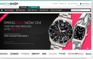 Preview 2 of the Watch Shop website