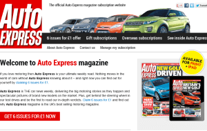 Preview 3 of the Auto Express Magazine website