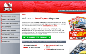 Preview 2 of the Auto Express Magazine website