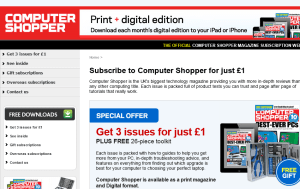 Preview 3 of the Computer Shopper Magazine website