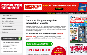 Preview 2 of the Computer Shopper Magazine website