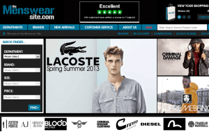 Preview 3 of the Menswear Site website