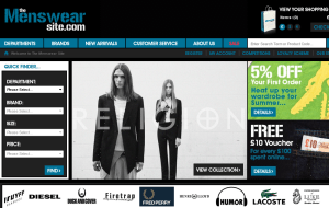 Preview 2 of the Menswear Site website