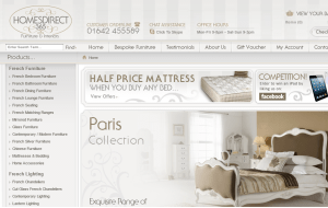 Preview 3 of the Homes Direct 365 website