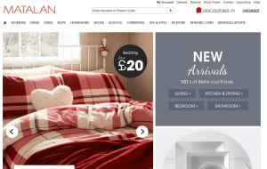 Preview 2 of the Matalan website