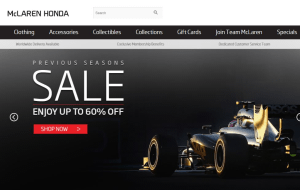 Preview 2 of the McLaren Store website