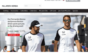 Preview 3 of the McLaren Store website