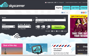 Preview 2 of the Skyscanner website