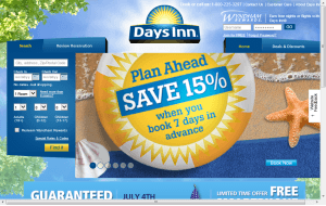 Preview 3 of the Days Inn website