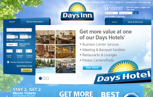 Preview 2 of the Days Inn website