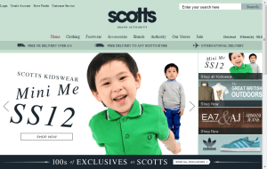 Preview 2 of the Scotts website