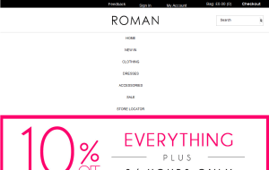 Preview 3 of the Roman Originals website