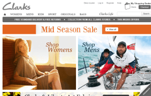 Preview 2 of the Clarks website