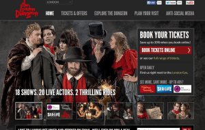 Preview 2 of the London Dungeon website