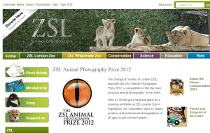 Preview 2 of the London Zoo website