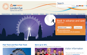 Preview 2 of the London Eye website