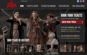 Preview 2 of the Edinburgh Dungeon website