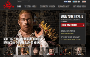 Preview 2 of the York Dungeon website