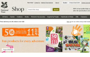 Preview 3 of the National Trust Online Shop website