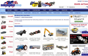 Preview 2 of the Mini Model Shop website