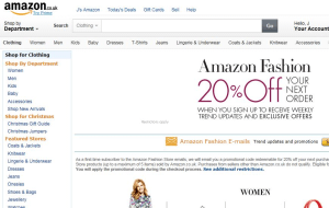 Preview 3 of the Amazon Fashion website
