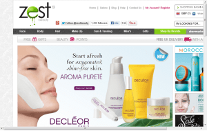 Preview 3 of the Zest Beauty website