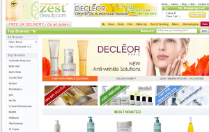 Preview 2 of the Zest Beauty website