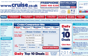 Preview 3 of the Cruise.co.uk website