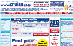 Preview 2 of the Cruise.co.uk website